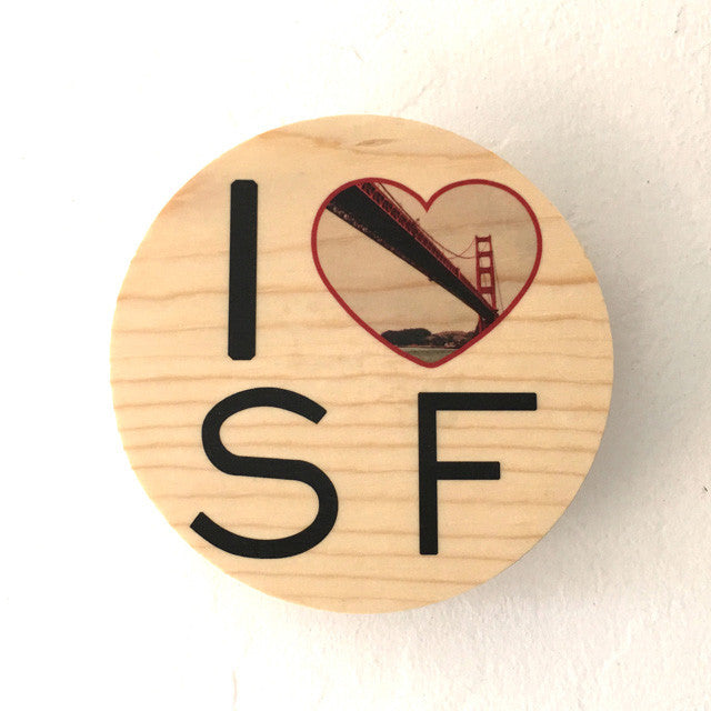 I Heart SF: Sailor's Golden Gate Bridge - Round