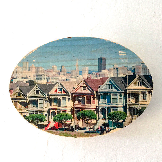 The Painted Ladies - 5x7 Oval