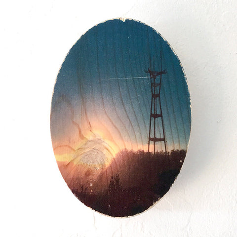 Sunset Sutro Tower - Oval
