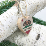 California State Bear Flag ornament - side view