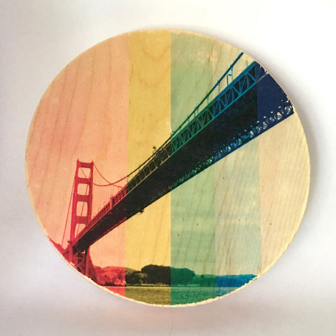 Rainbow Pride: Sailor's Golden Gate Bridge - Round