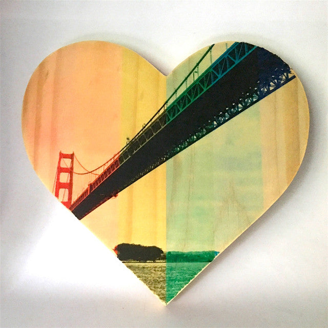 Rainbow Pride: Sailor's Golden Gate Bridge - Heart