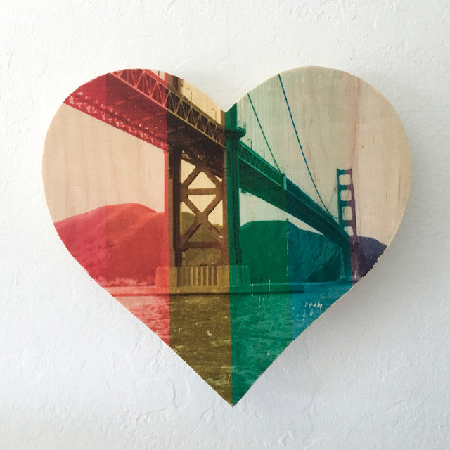 Rainbow Pride: Dad's Golden Gate Bridge, Circa 1977 - Heart