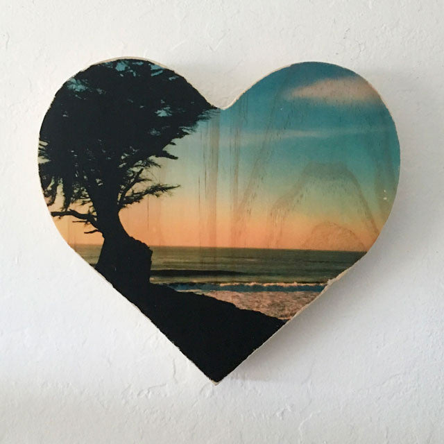 Cypress Sunset - Heart