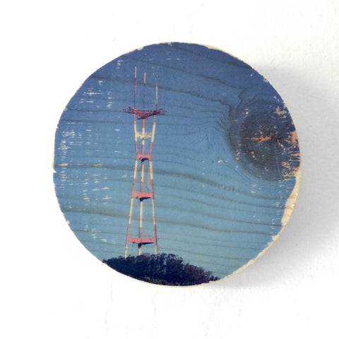 Blue Sky Sutro Tower - Round or Oval