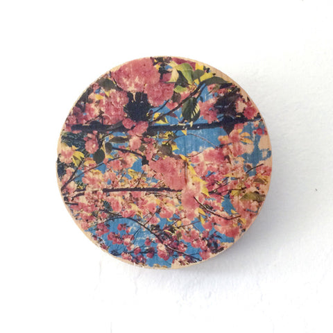 Springtime Cherry Blossoms - Round or Oval