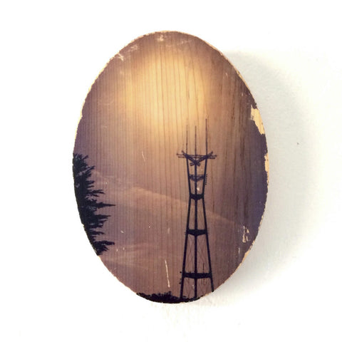 Sutro Tower Glow - Oval
