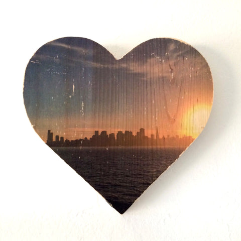 Sunset View from Treasure Island - Heart