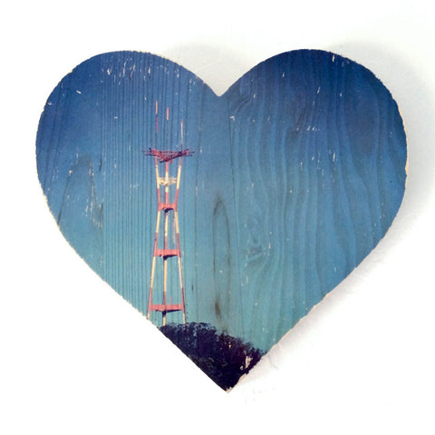 Blue Sky Sutro Tower - Heart