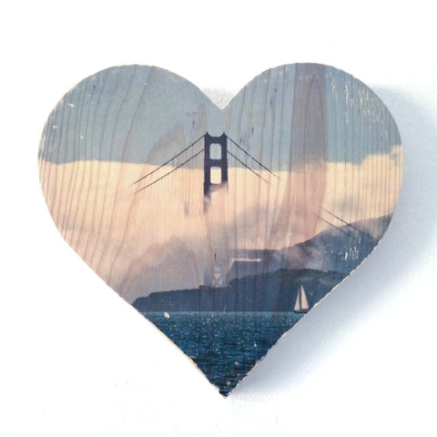 Afternoon Fog: Golden Gate Bridge - Heart