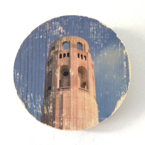 Birdseye Coit Tower - Round or Oval