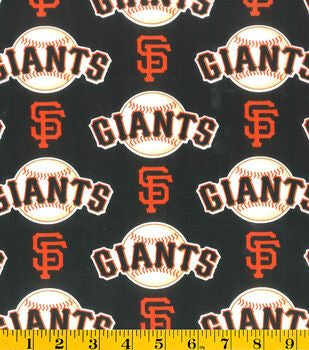 Cloth Face Mask - #123 - SF Giants Baseballs