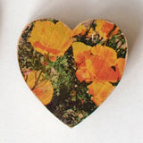 Mini Heart Magnets: Coastal and Nature - Hand-Transferred Photos on Wood, Various Images
