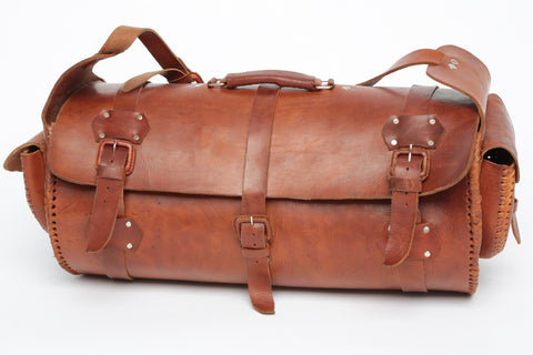 Leather 2-Pocket Weekender Bag