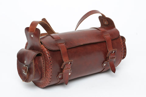Leather 2-Pocket Duffel/ Medium