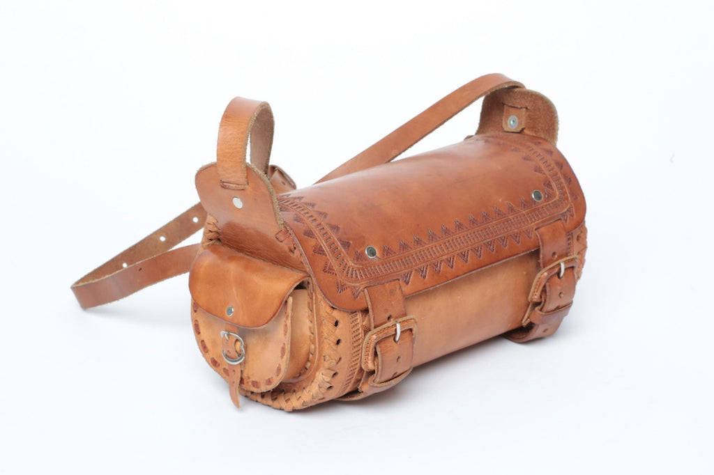 Leather 2-Pocket Duffel/ Small