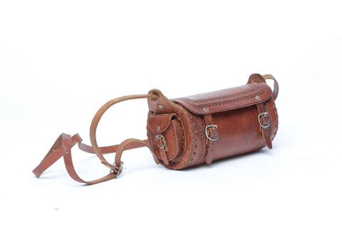 Leather 2-Pocket Duffel/ Mini