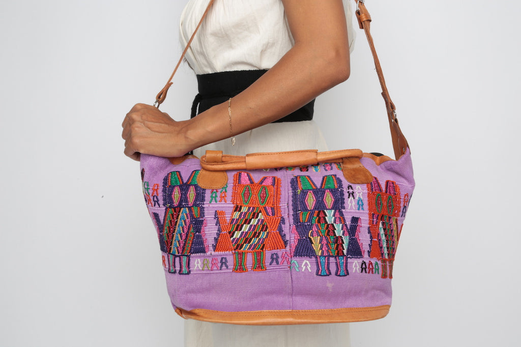 Huipil Day Bag/ Lavender
