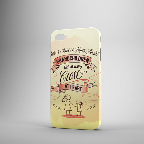 Side By Side Or Miles Apart My Grandkids Are Always Close At Heart - Phone Cases