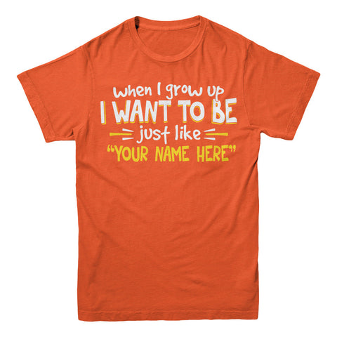"Can't Find Your Name? Personalize Your ""When I Grow Up"" Grandpa Shirt Here!"