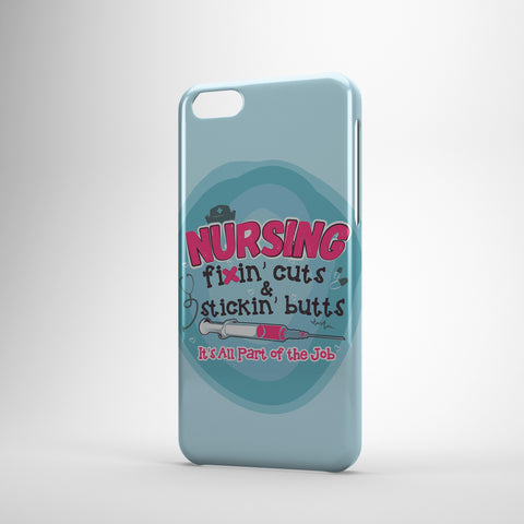 Nursing Fixin' Cuts And Stickin' Butts It's All Part Of The Job - Phone Cases-2
