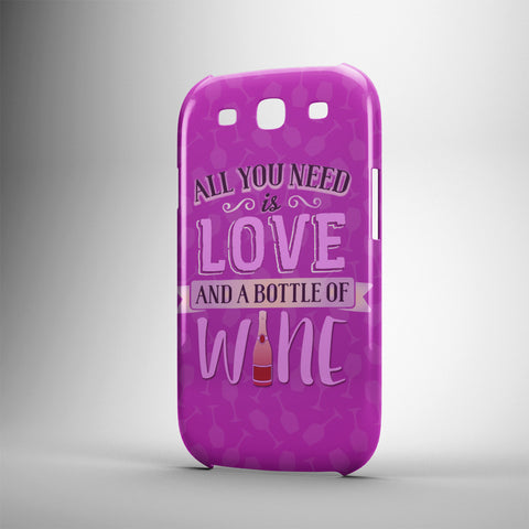 All You Need Is Love And A Bottle Of Wine - Phone Cases - PURPLE
