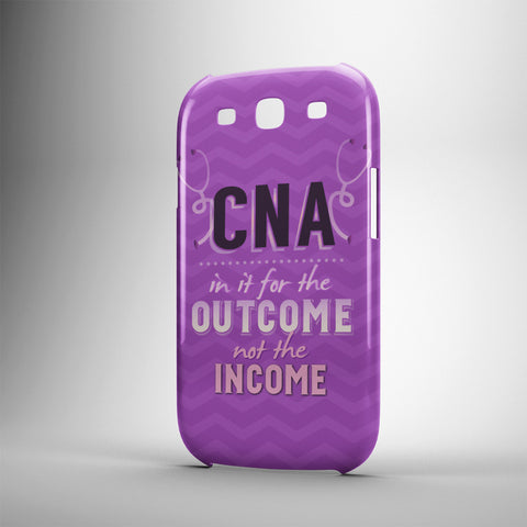 CNA In It For The Outcome Not The Income - Phone Cases - PURPLE