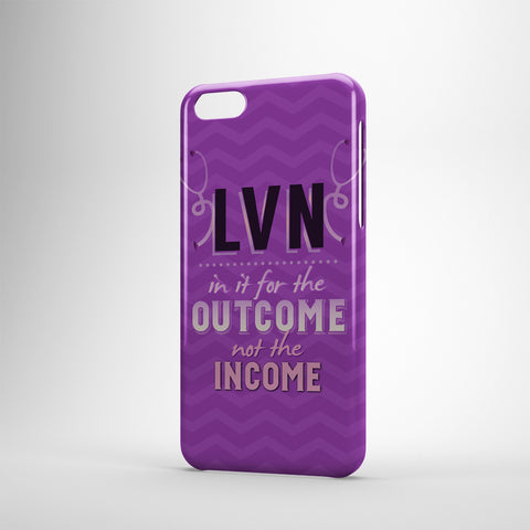 LVN In It For The Outcome Not The Income - Phone Cases - PURPLE
