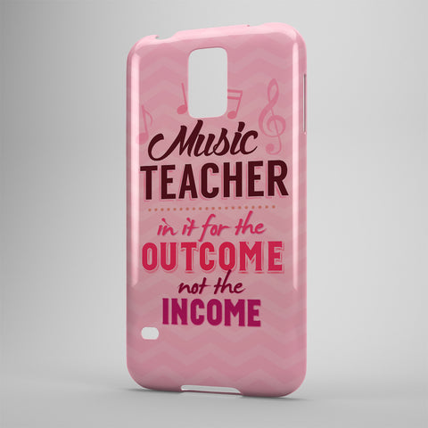 Music Teacher In It For The Outcome Not The Income - Phone Cases - PINK