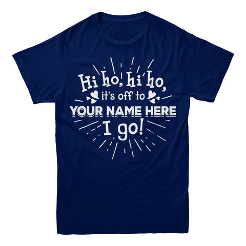 "Can't Find Your Name? Personalize Your ""Hiho Hiho"" Grandma Shirt Here!"