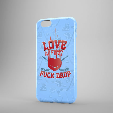 Love At First Puck Drop - Phone Case - Blue