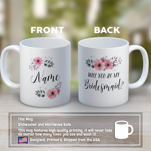 Bridesmaid Coffee Mug 11oz White - Be My Bridesmaid - b8md-bmy1-mg 514898051