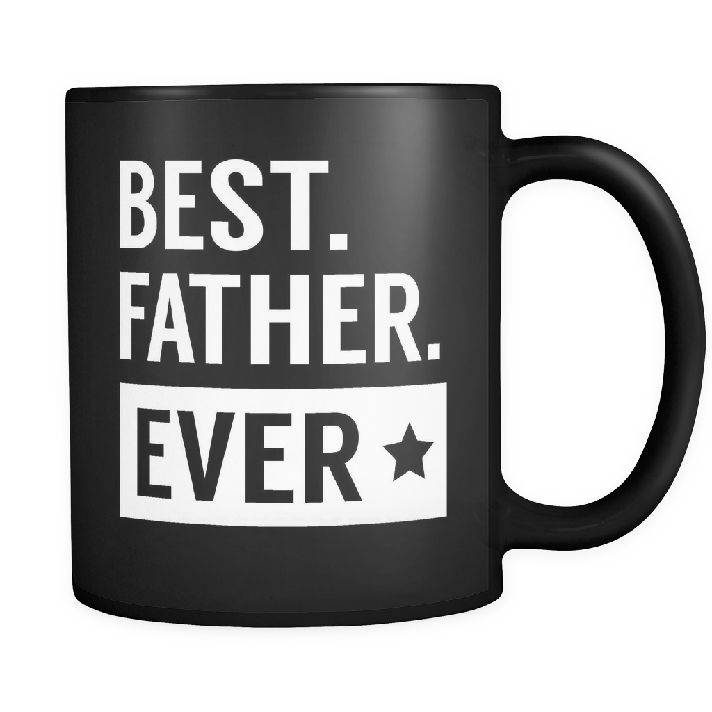Couples Coffee Mug 11oz Black - Best Father Ever - 477624096