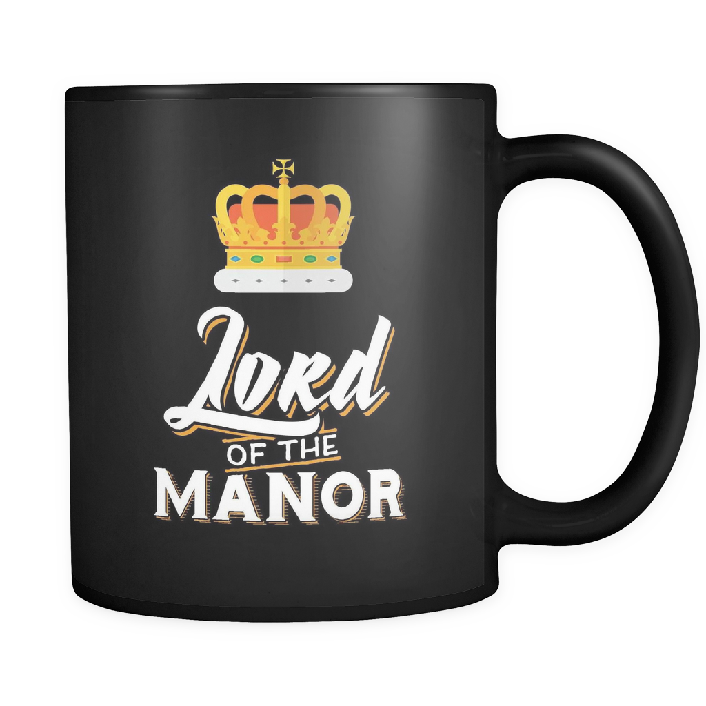 Couples Wedding Coffee Mug 11oz Black - Lord Of The Manor - c8p2-3n0r-mg 526052657