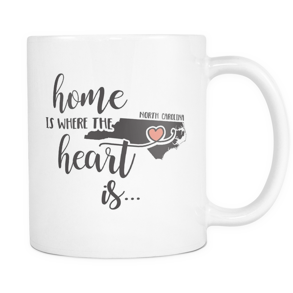 North Carolina State Coffee Mug 11oz White - Heart Is In North Carolina - 5t43-b26m-mg 470256740