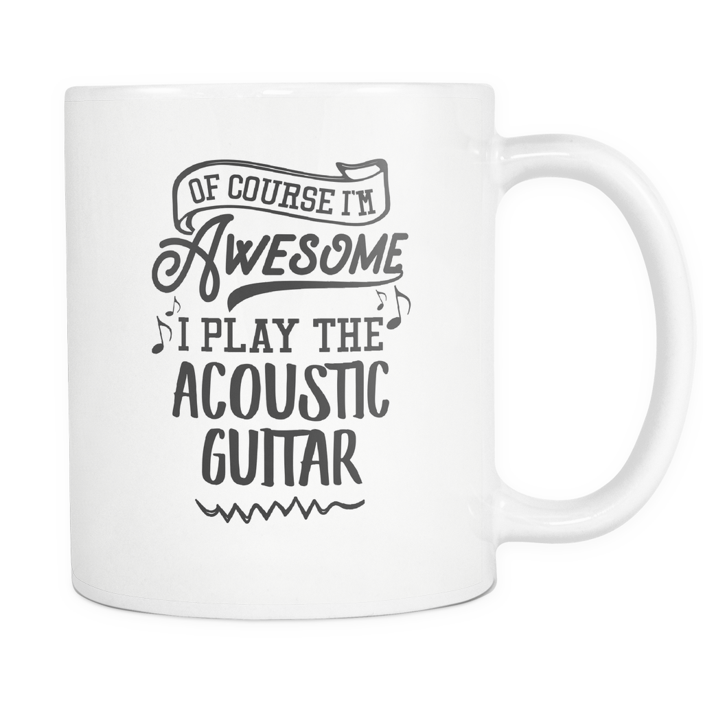 Acoustic Guitar Musical Instrument Coffee Mug 11oz White - I Play The Acoustic Guitar - 1ns7-a2gr-mg	512780048
