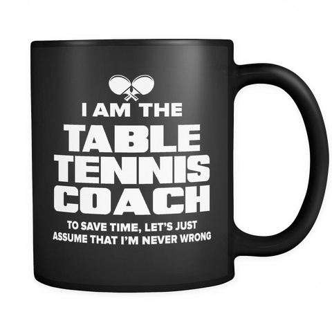 Coach Funny Mug 11oz Black - Table Tennis Coach - c09h-b1ak-mg 511119487