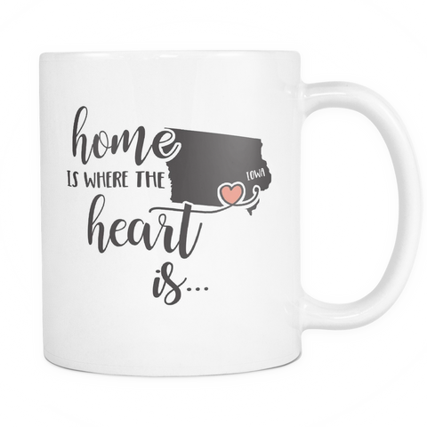 Iowa State Coffee Mug 11oz White - Heart Is In Iowa - 5t43-b26e-mg 483744381