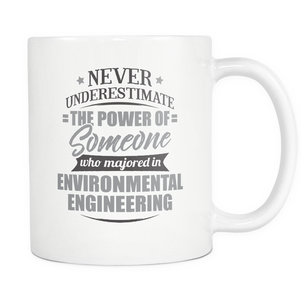 Environmental Engineering Major Coffee Mug 11oz White - Never Underestimate Environmental Engineering - 9r4d-env1-mg 539256533