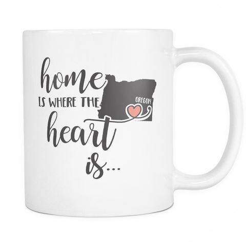 Oregon State Coffee Mug 11oz White - Heart Is In Oregon - 5t43-b26n-mg 470257042