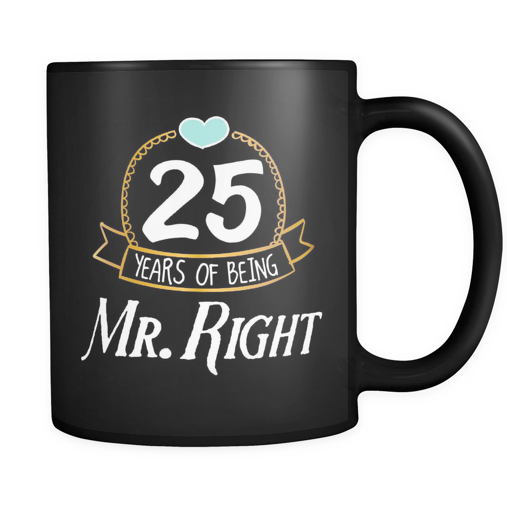 Couples Wedding Coffee Mug 11oz Black - Mr Right - c8p2-y3rs-mg 526055667