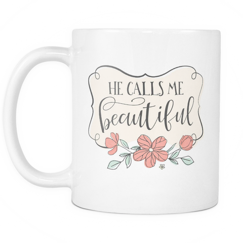 Couples Coffee Mug 11oz White - Calls Me Beautiful - c8p2-c9l1-mg 514686423