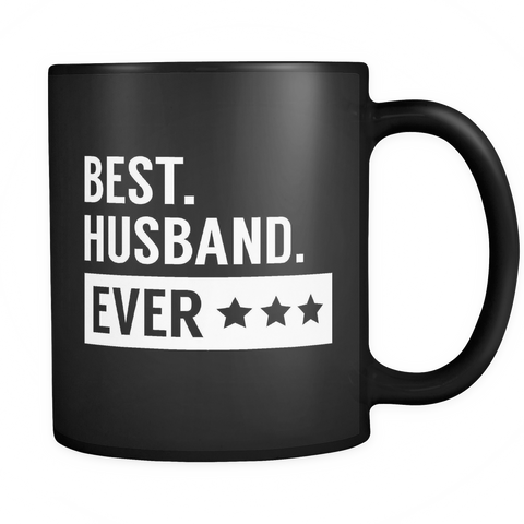 Couples Coffee Mug 11oz Black - Best Husband Ever - 491123527