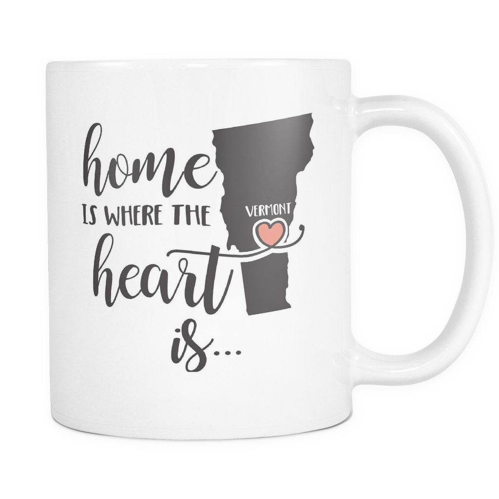 Vermont State Coffee Mug 11oz White - Home Is In Vermont - 5t43-b26q-mg	470294660