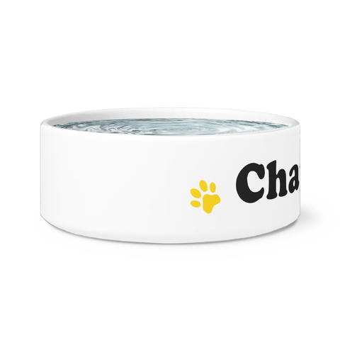 Ceramic Dog Bowl - Chaplin
