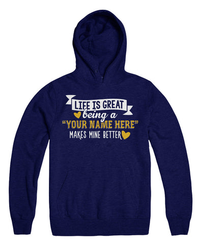 "Can't Find Your Name? Personalize Your ""Life Is Great"" Grandma Shirt Here!"