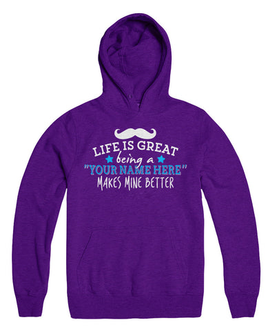 "Can't Find Your Name? Personalize Your ""Life Is Great"" Grandpa Shirt Here!"