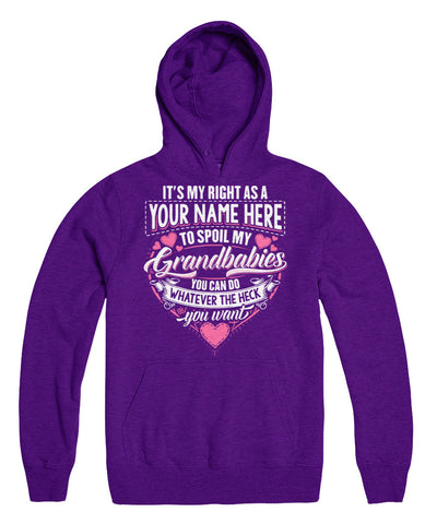 "Can't Find Your Name? Personalize Your ""It's My Right"" Shirt Here!"
