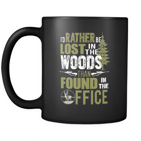 Hunting Coffee Mug 11oz Black - Lost In The Woods - h2n7-4z-mg 451352542