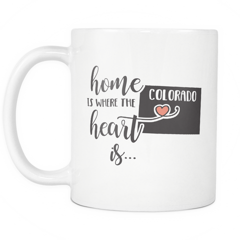 Colorado State Coffee Mug 11oz White - Heart Is In Colorado - 5t43-c0l0-mg 535180453